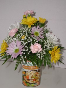 Soup Can Flower Arrangement
